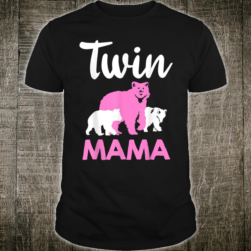 Funny Twin Mom Mother Cool Mama Bear And Cubs Shirt