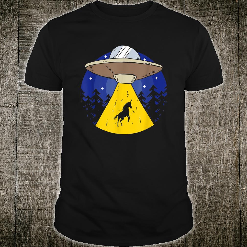 Funny Unicorn UFO Abduction Mythical Creatures Shirt