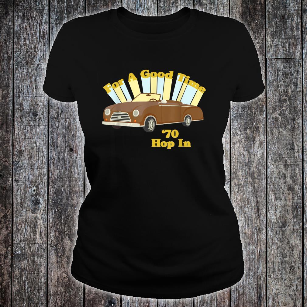 Funny Vintage 70's Decade Good Times Shirt ladies tee