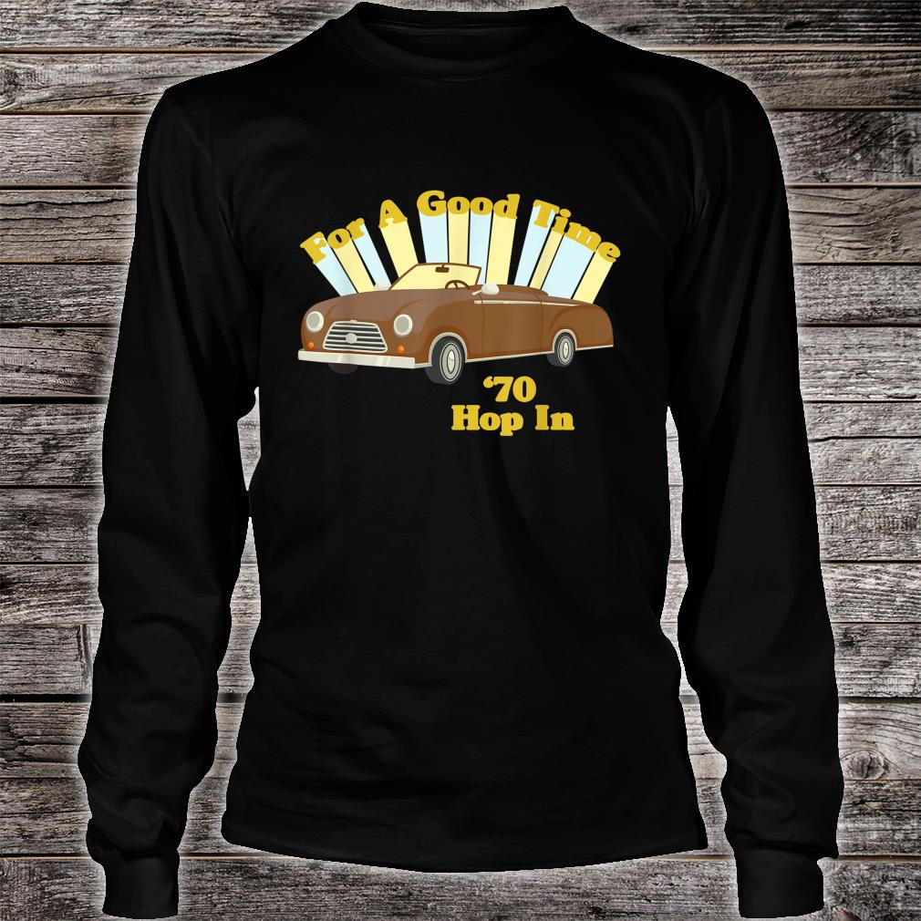 Funny Vintage 70's Decade Good Times Shirt long sleeved