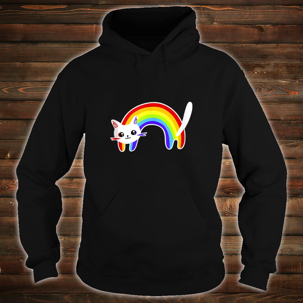 Funny Vintage Retro Rainbow Cat  Cute Cats Shirt hoodie