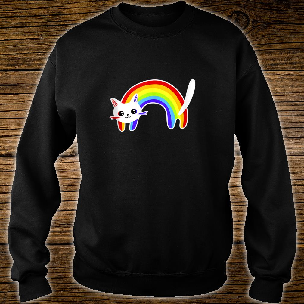 Funny Vintage Retro Rainbow Cat  Cute Cats Shirt sweater