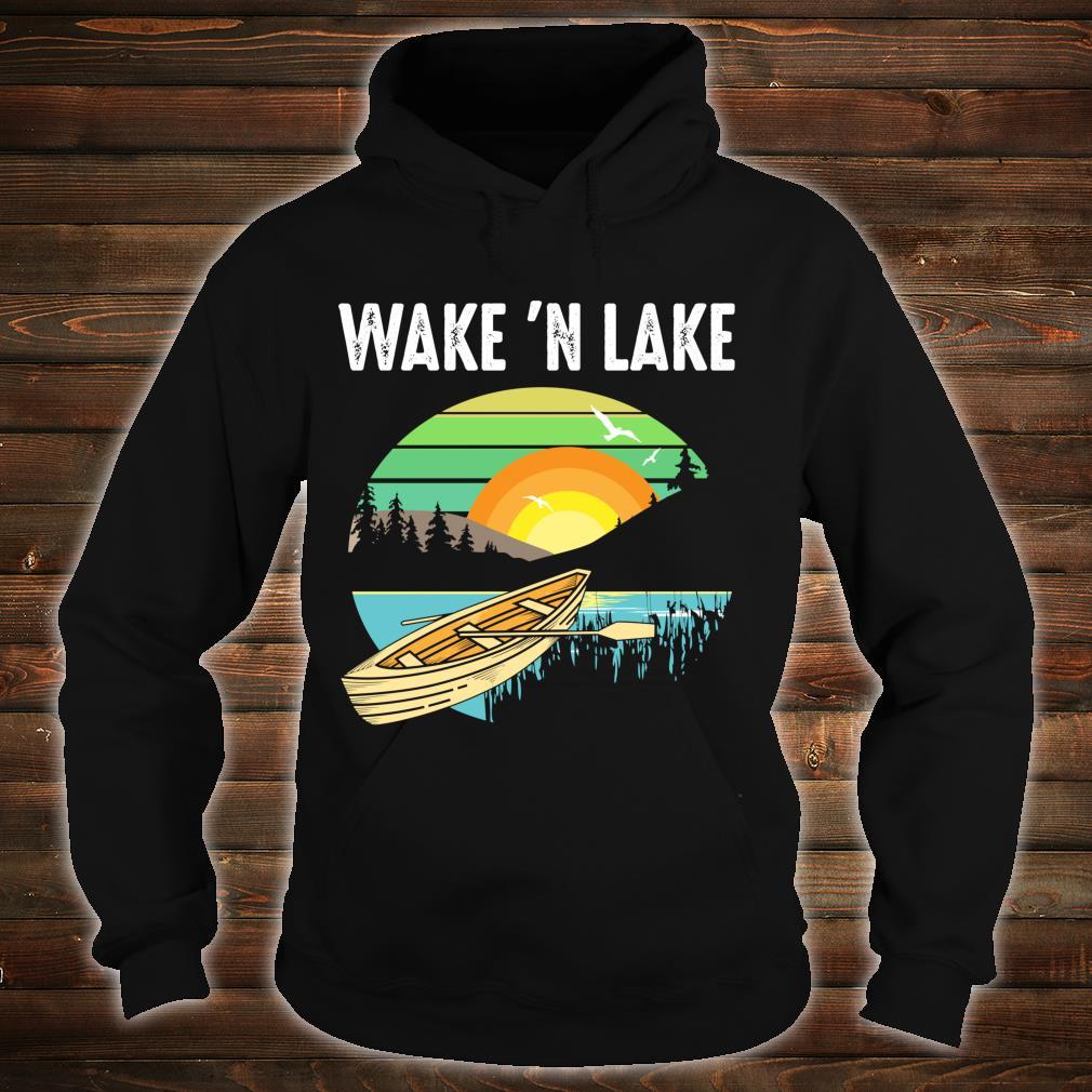 Funny Wake 'n Lake Camping Boys Girls Kid Shirt hoodie