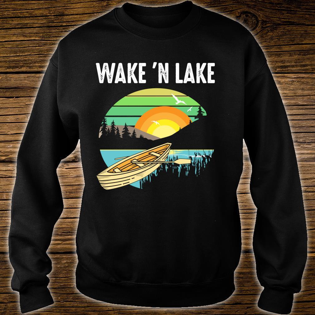 Funny Wake 'n Lake Camping Boys Girls Kid Shirt sweater