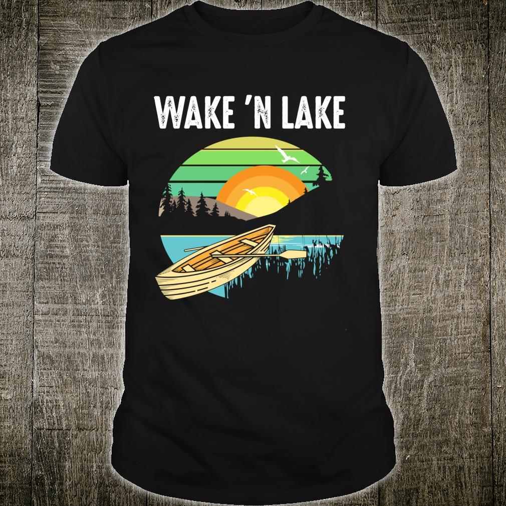 Funny Wake 'n Lake Camping Boys Girls Kid Shirt