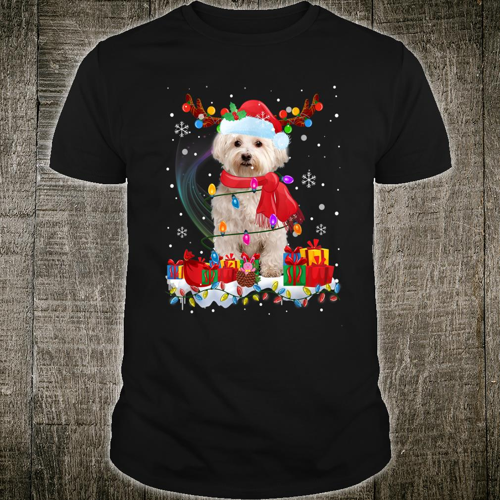 Funny Westie Reindeer Xmas Christmas Dogs Shirt