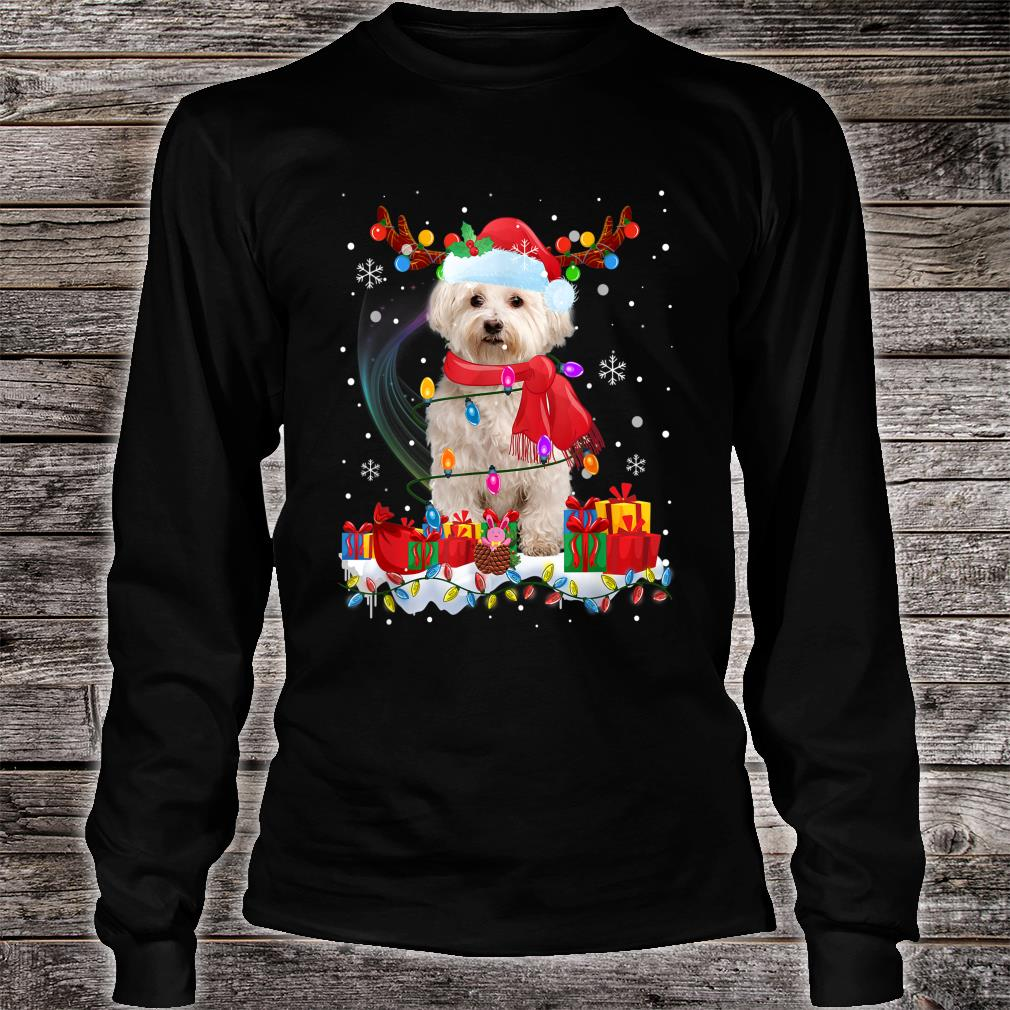 Funny Westie Reindeer Xmas Christmas Dogs Shirt long sleeved