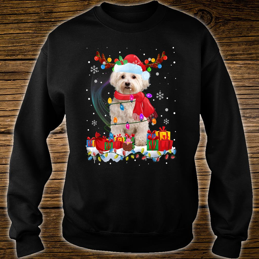 Funny Westie Reindeer Xmas Christmas Dogs Shirt sweater
