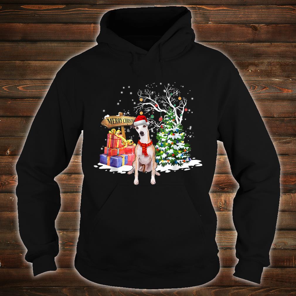 Funny Whippet Dog Santa Christmas Dog Cute Xmas Shirt hoodie