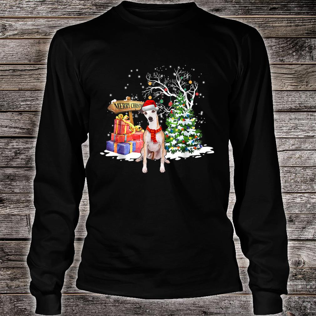 Funny Whippet Dog Santa Christmas Dog Cute Xmas Shirt long sleeved