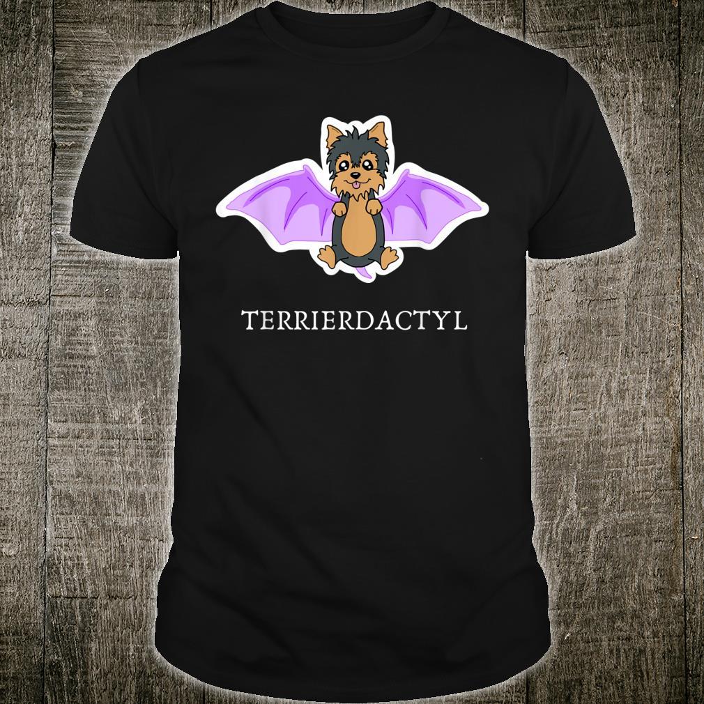 Funny Yorkie Dinosaur Apparel Terrierdactyl Shirt