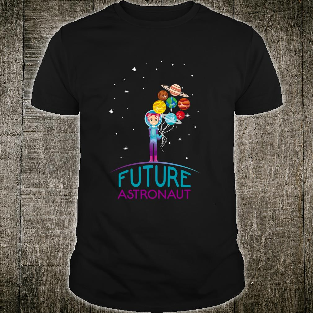 Future Astronaut With Planets For Girl Shirt