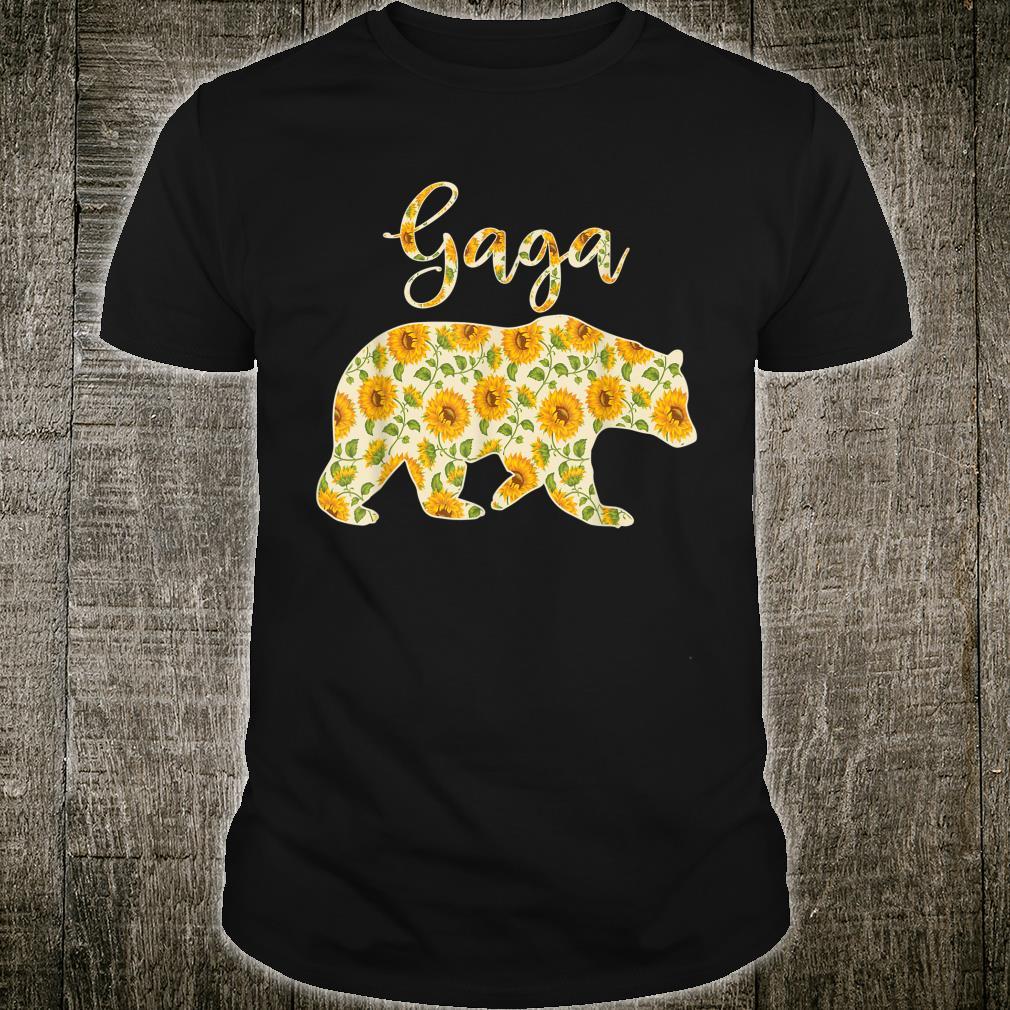 Gaga Bear Sunflower Matching Family Bear Shirt
