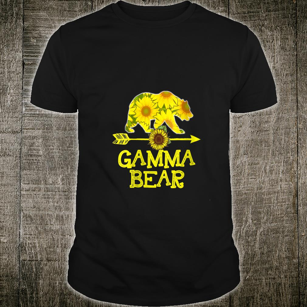 Gamma Bear Sunflower Mother Father Shirt