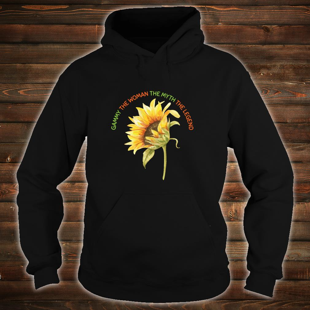 Gammy The The Myth The Legend Sunflower Mother Shirt hoodie