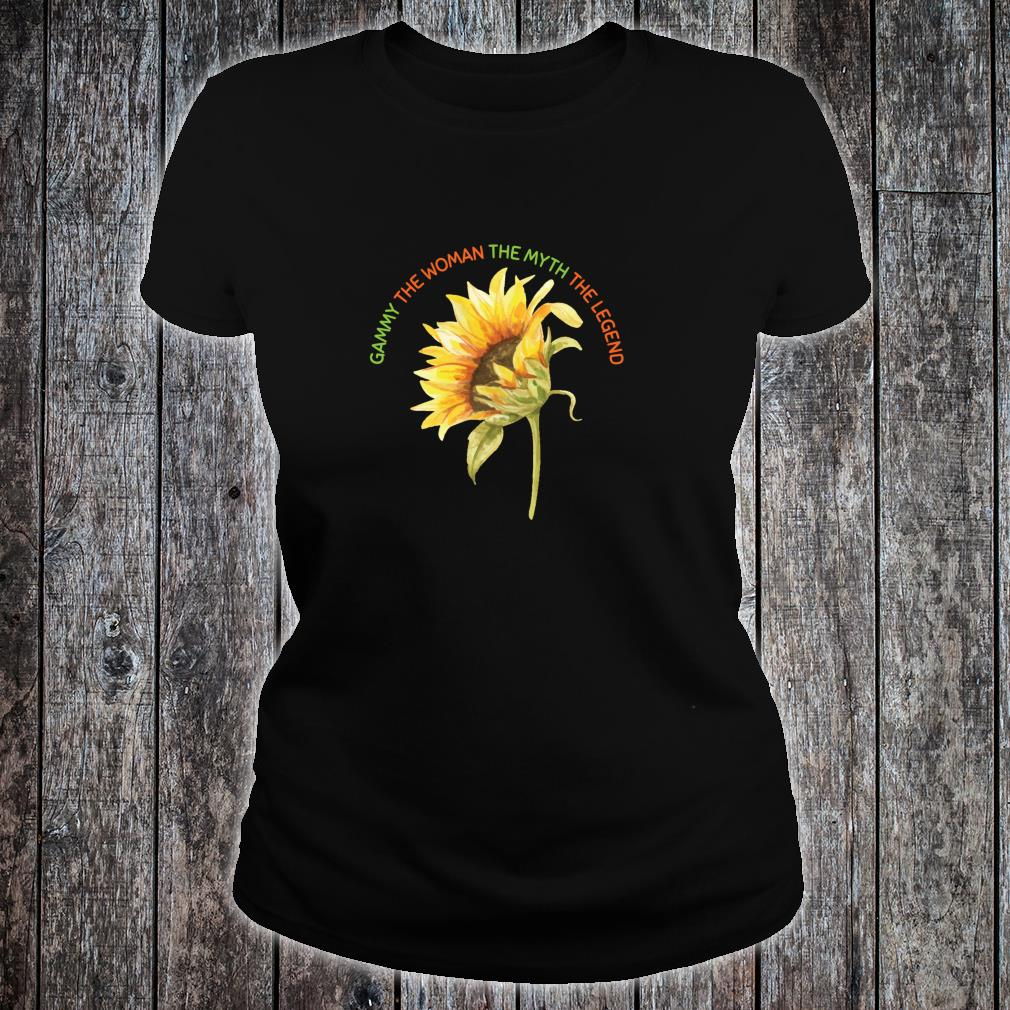 Gammy The The Myth The Legend Sunflower Mother Shirt ladies tee