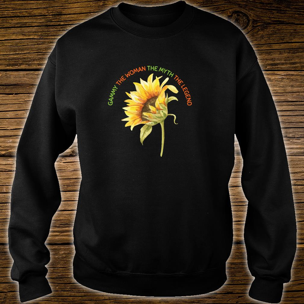 Gammy The The Myth The Legend Sunflower Mother Shirt sweater