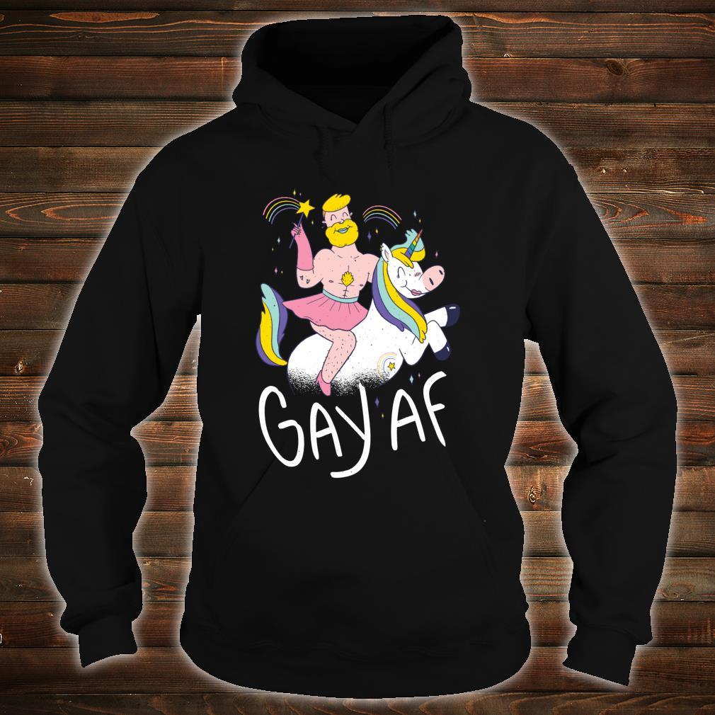 Gay AF Proud Queer Pride Lesbian LGBTQ+ Rainbow Magical Shirt hoodie