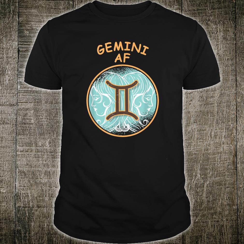 Gemini Af Zodiac Sign Shirt
