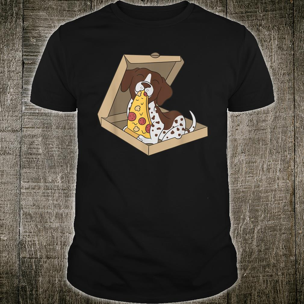 German Shorthaired Pointer Eating Pizza Dog Shirt