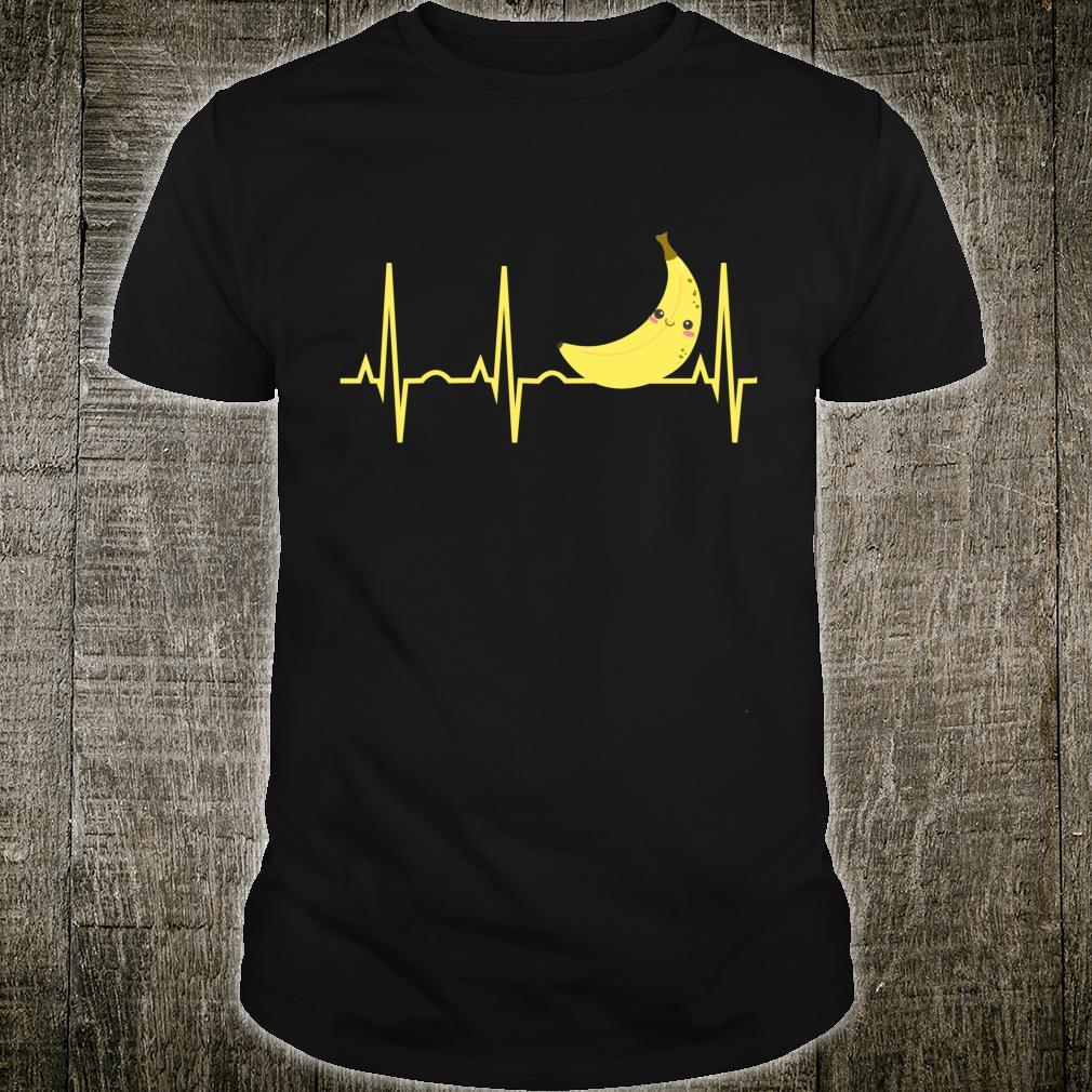 Geschenke für Bananenliebhaber Herzschlag der gelben Banane Shirt
