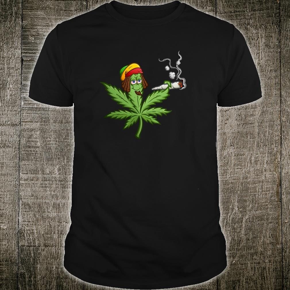 Gesteinigtes Marihuana CannabisUnkrautblatt Shirt