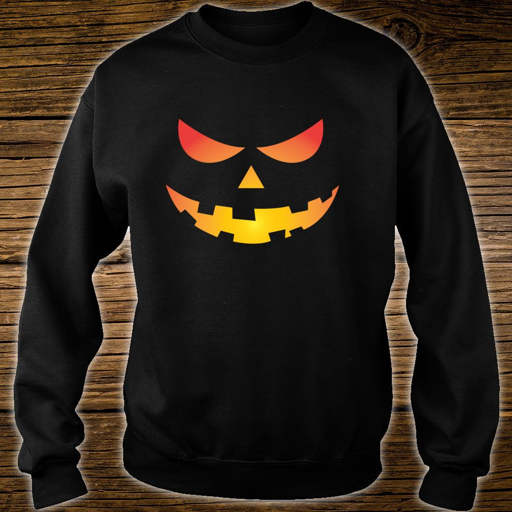 Giant Jack O' Lantern Face Halloween Pumpkin Fun Shirt sweater