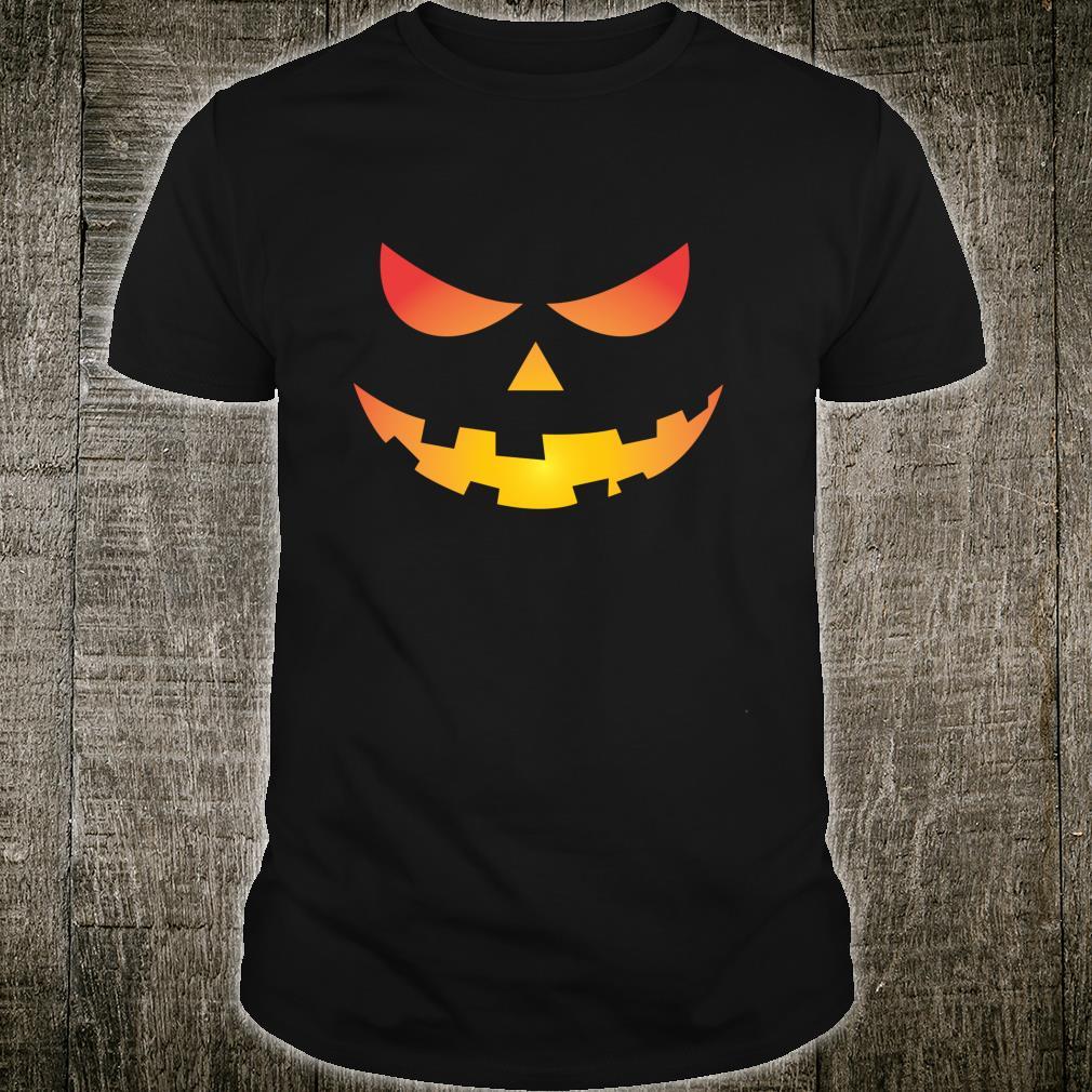 Giant Jack O' Lantern Face Halloween Pumpkin Fun Shirt