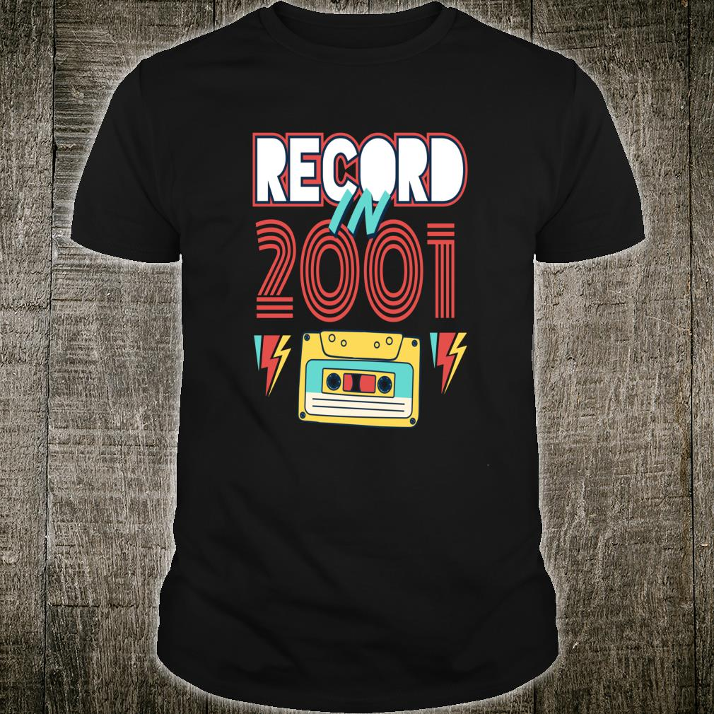 Gift 19 Year Old Vintage Cassette Tape 2001 19th Birthday Shirt