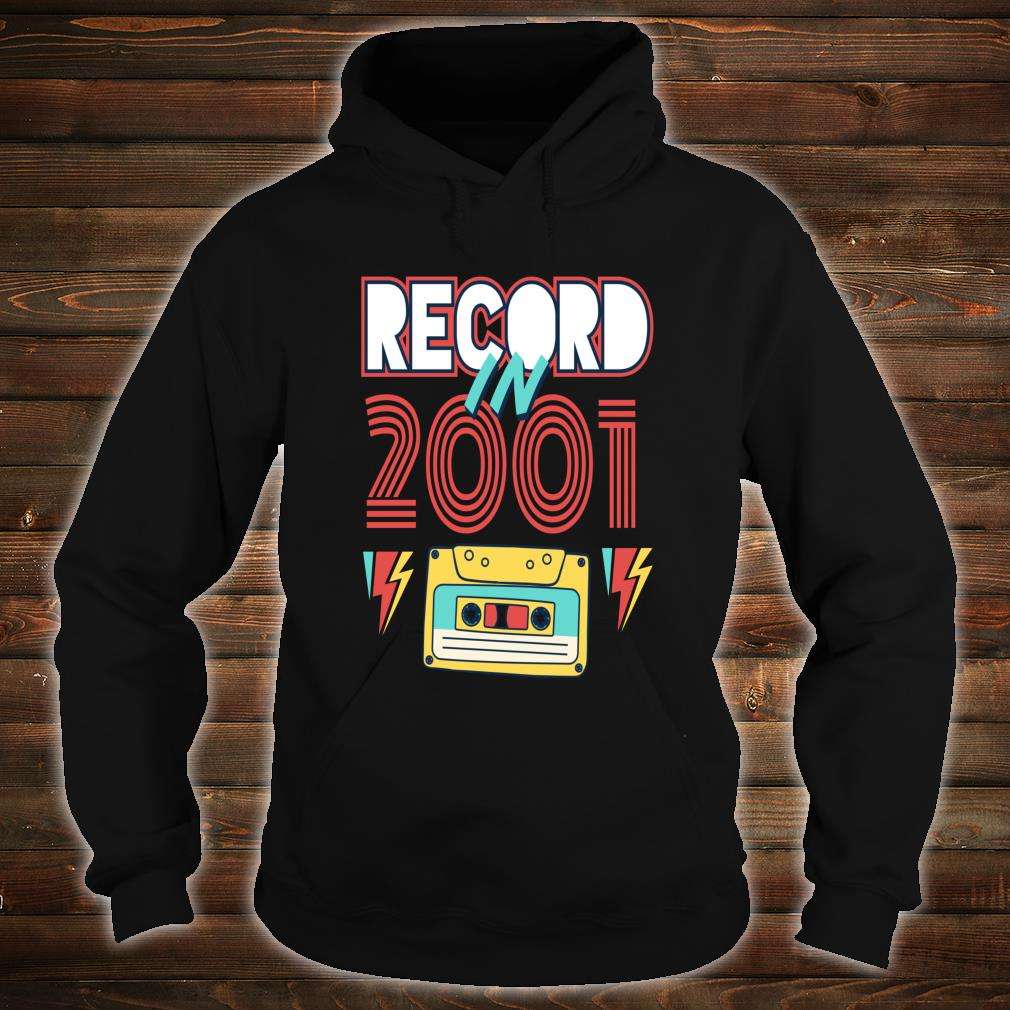 Gift 19 Year Old Vintage Cassette Tape 2001 19th Birthday Shirt hoodie