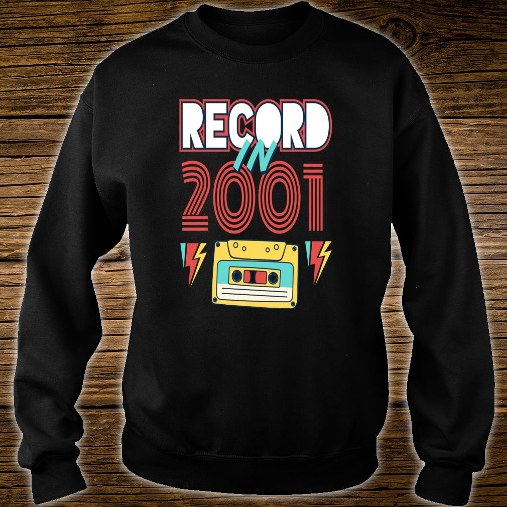 Gift 19 Year Old Vintage Cassette Tape 2001 19th Birthday Shirt sweater