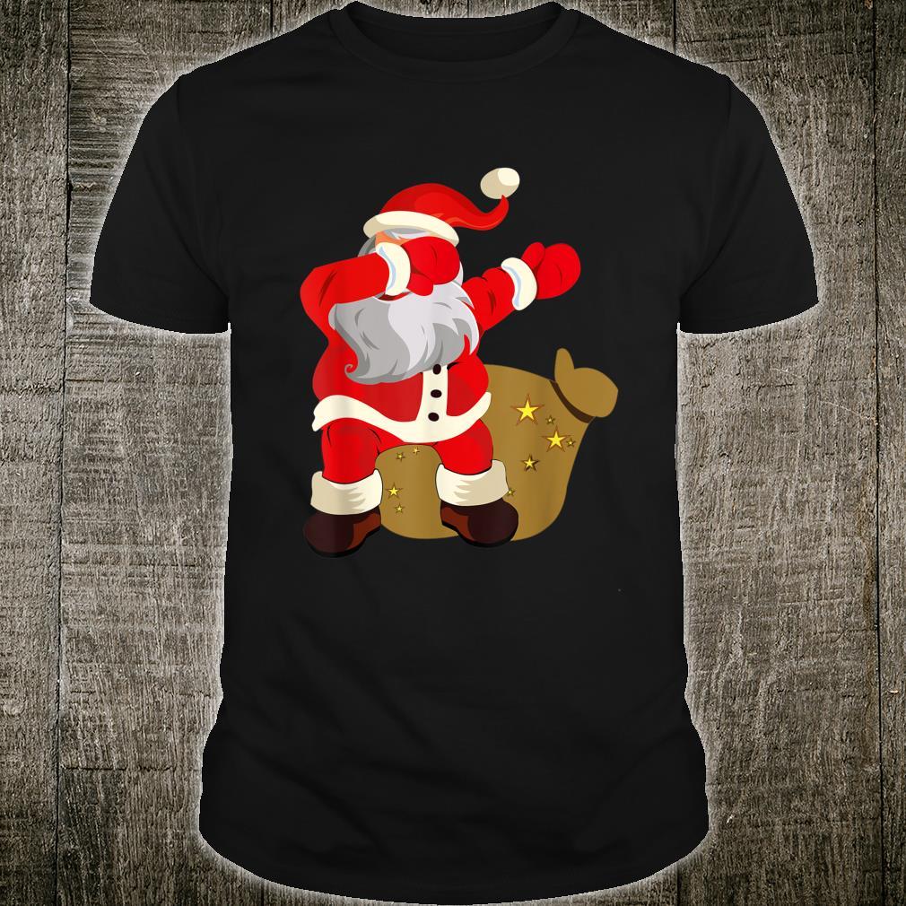 Gift Present Christmas Dab dabbing Santa Claus Shirt