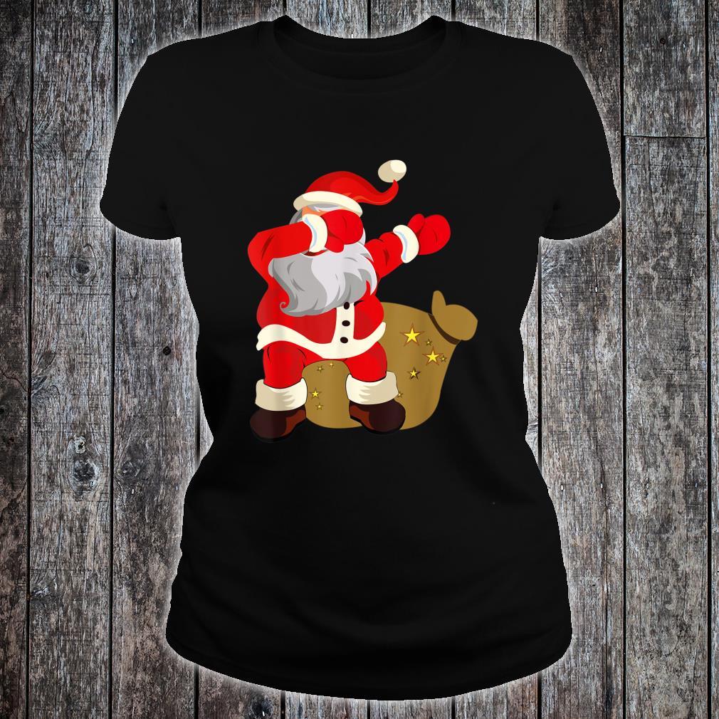 Gift Present Christmas Dab dabbing Santa Claus Shirt ladies tee