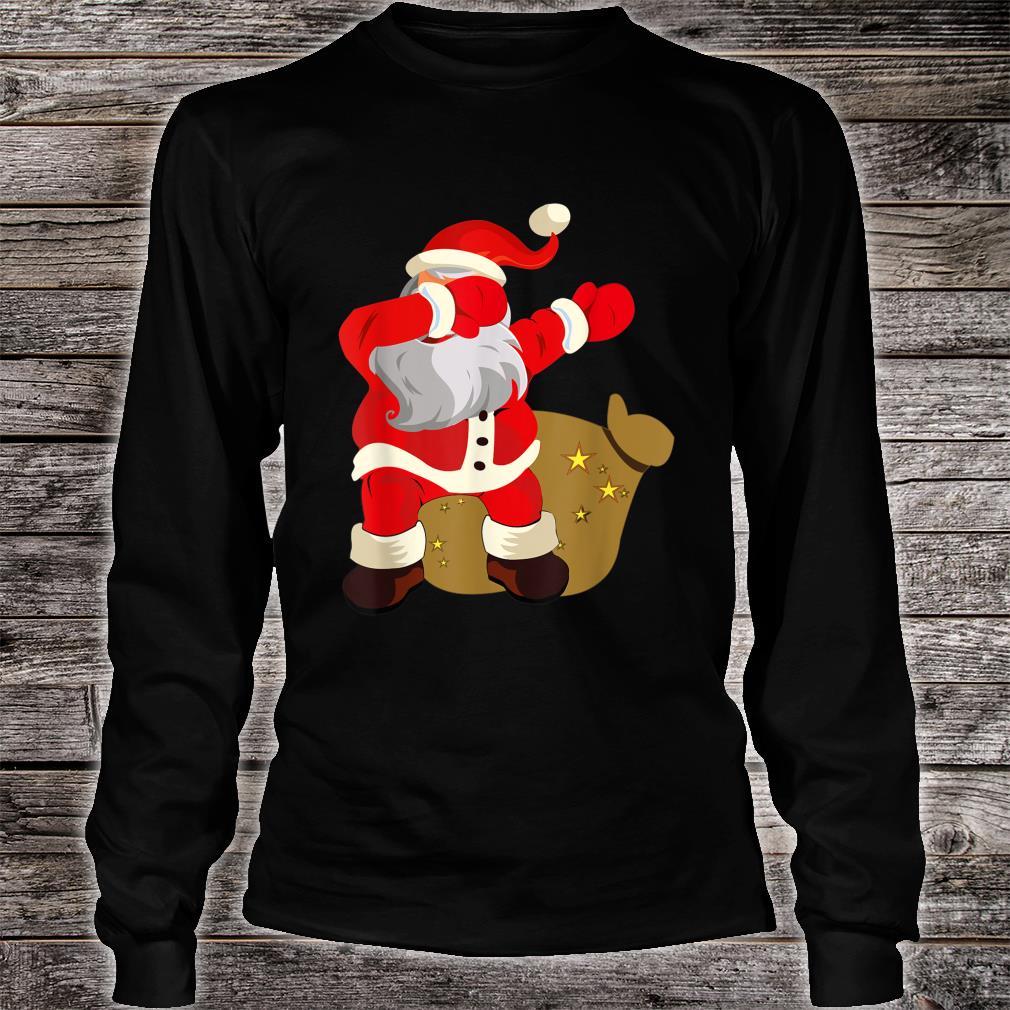 Gift Present Christmas Dab dabbing Santa Claus Shirt long sleeved