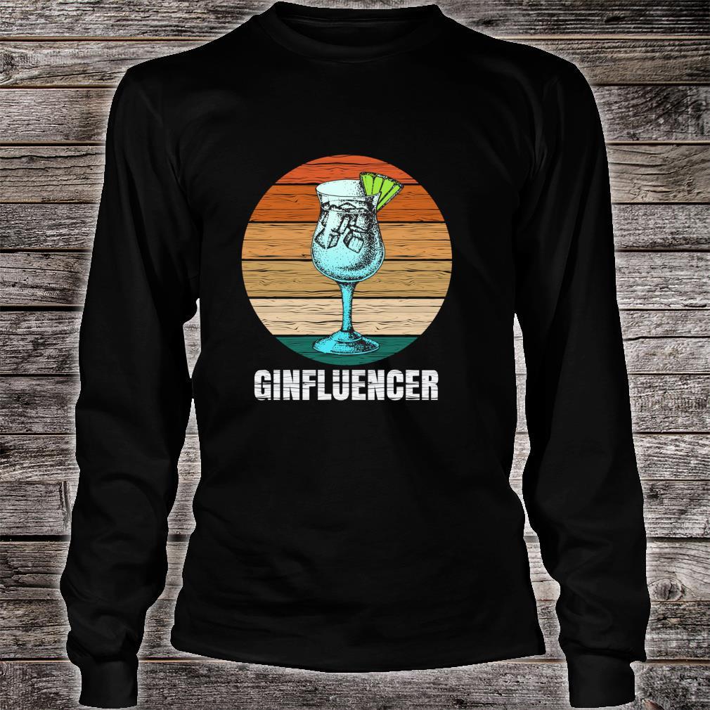 Ginfluencer Geschenk für Gin Tonic Gintonic Alkohol Fans Shirt long sleeved