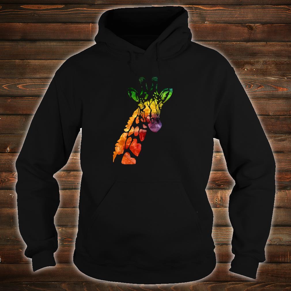 Giraffe Head African Animal Watercolor Shirt hoodie