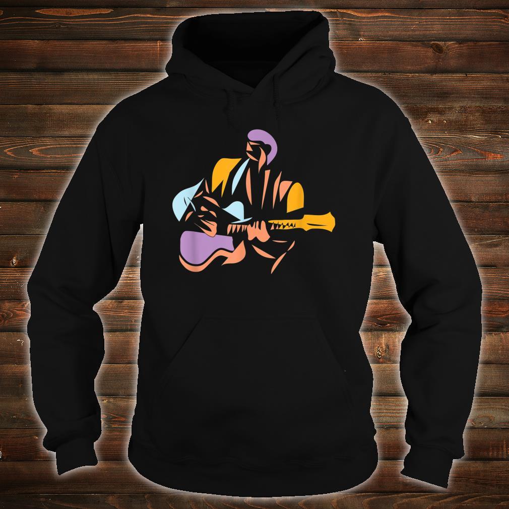 Gitarrist im modernen Stil Shirt hoodie