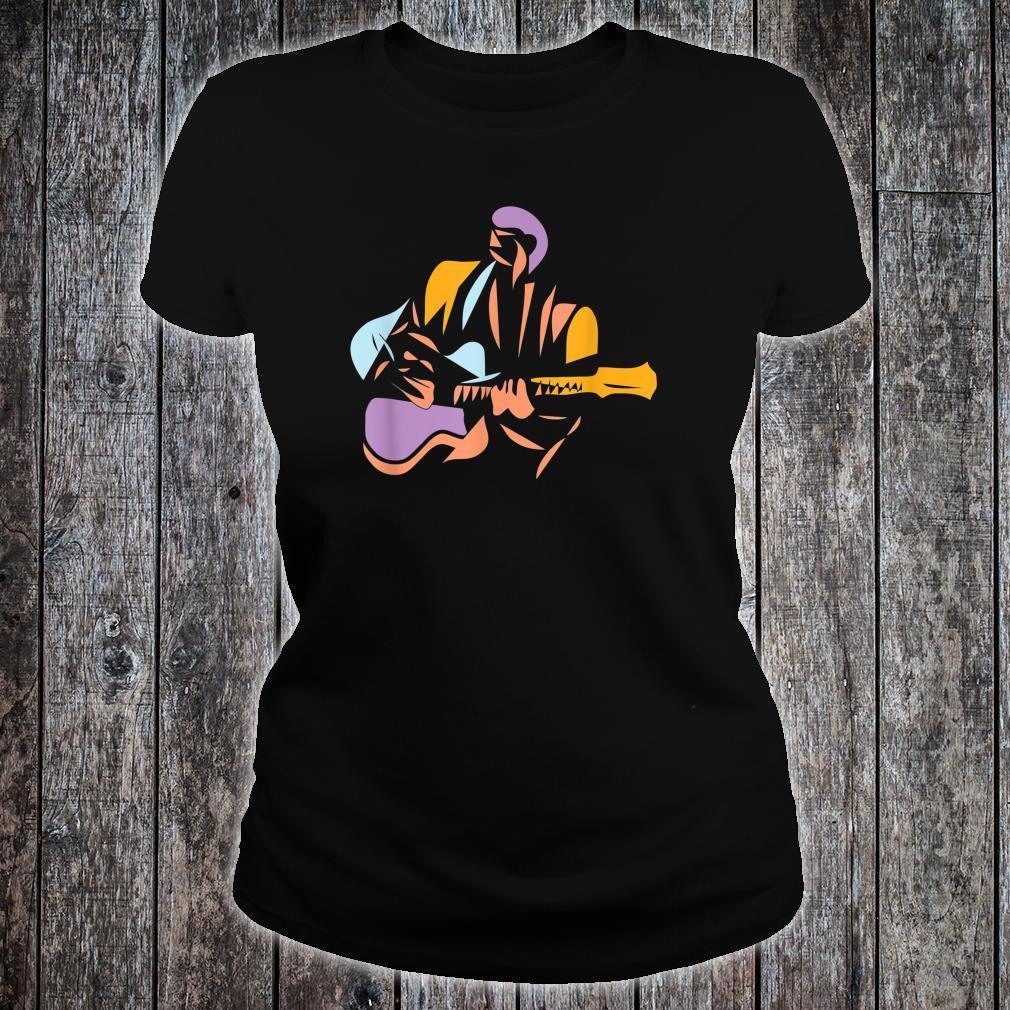 Gitarrist im modernen Stil Shirt ladies tee