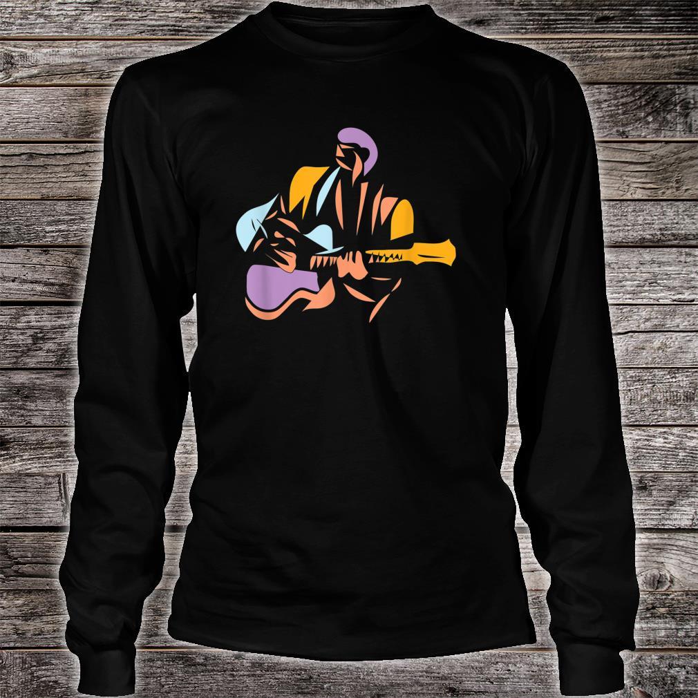 Gitarrist im modernen Stil Shirt long sleeved