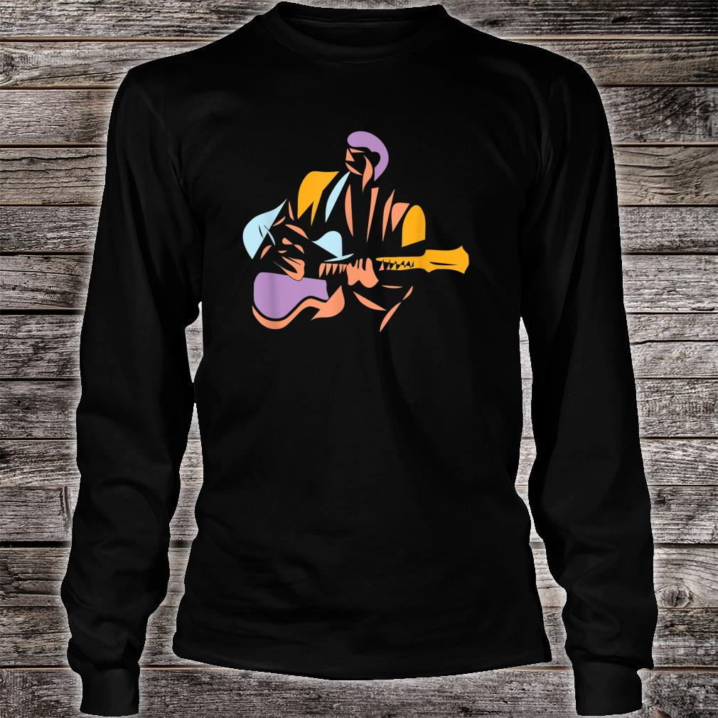 Gitarrist im modernen Stil Shirt long sleeved