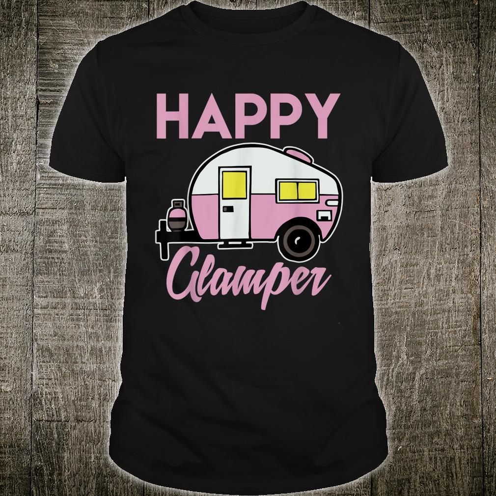 Glücklich Glamper Abenteuer Monat Feier Shirt