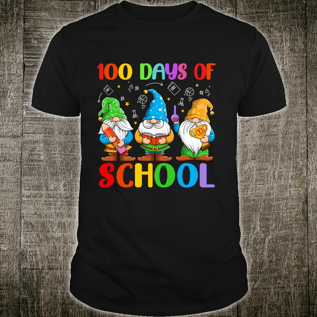 Gnome 100 Days Of School Cute Gnomies Teacher Shirt