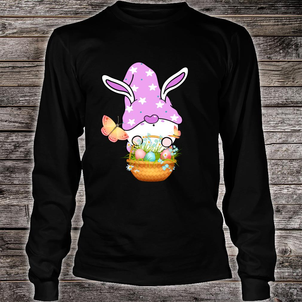 Gnome Easter Basket Outfit Easter Girls and Toddlers Shirt long sleeved