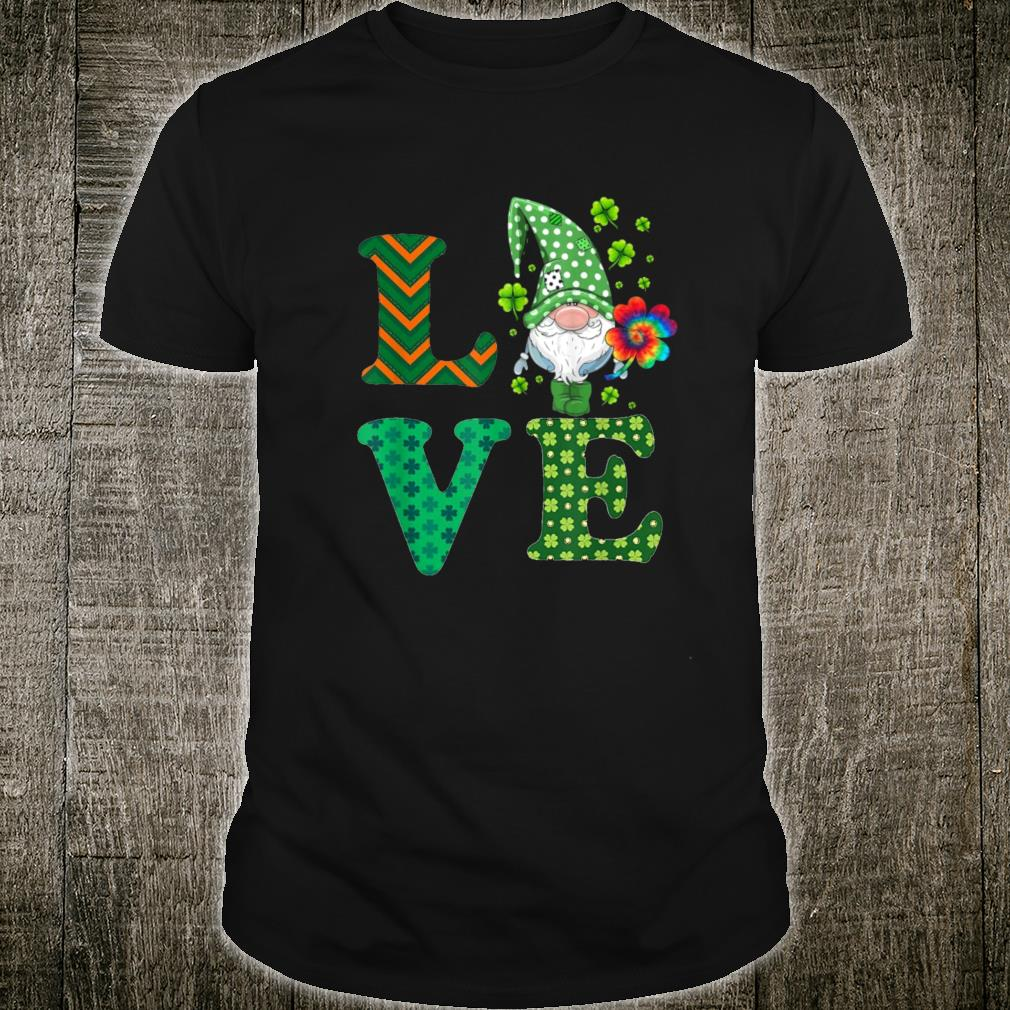Gnome Love, St. Patricks Day Gnomes Leprechaun Hippie Gnomes Shirt