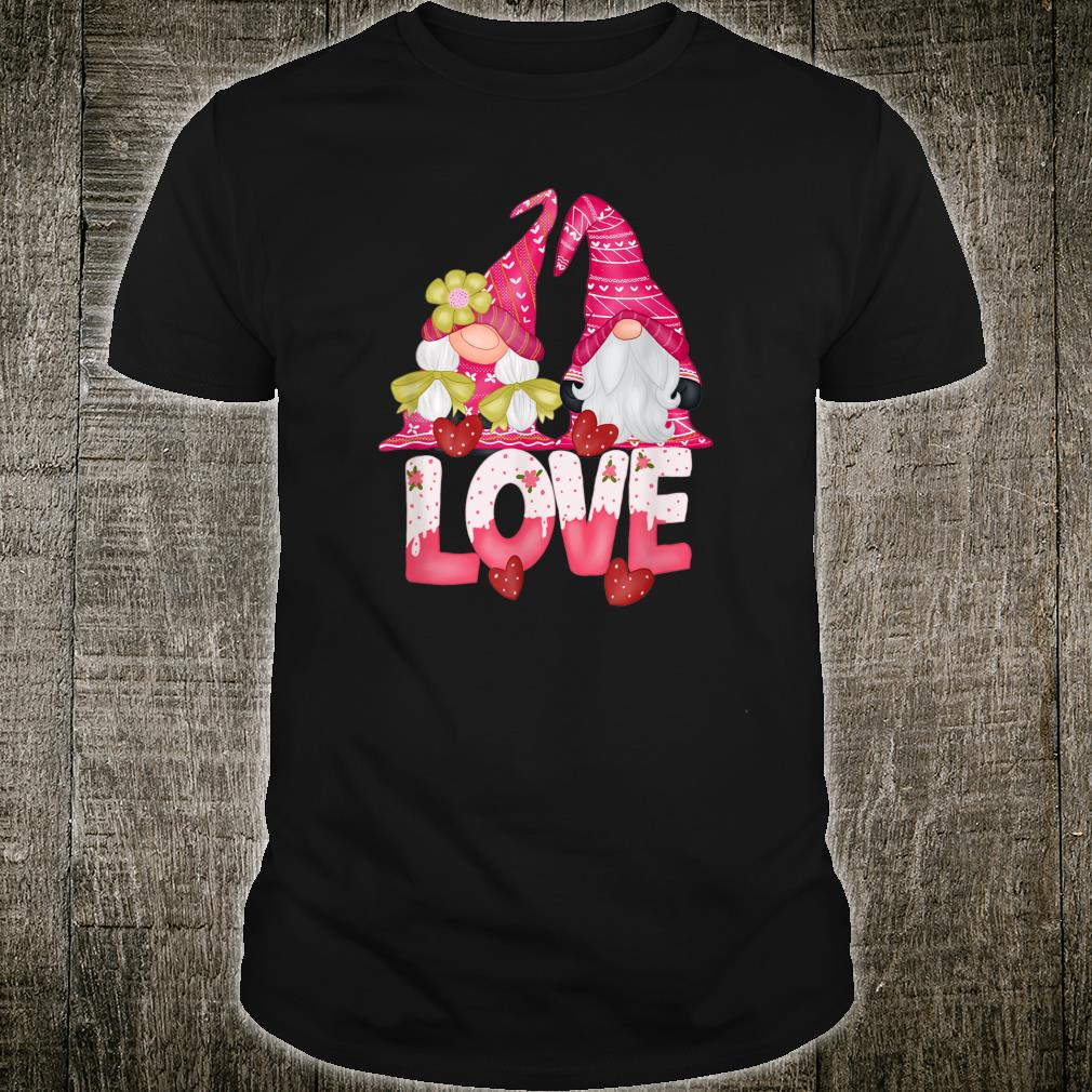 Gnomes Couple LOVE Valentines Day Gnomies Hearts Gnome Shirt