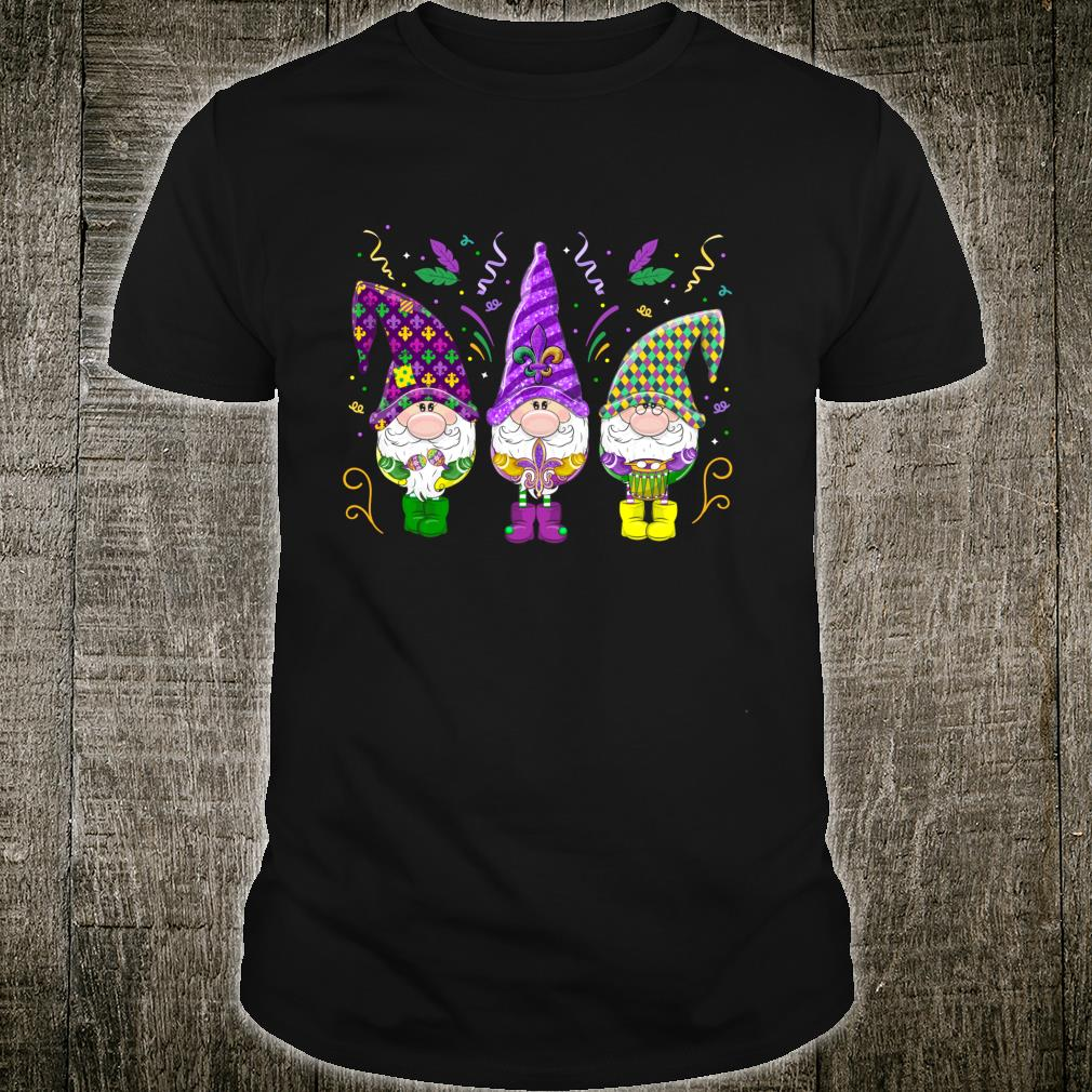 Gnomes Mardi Gras Gnome Girl Shirt