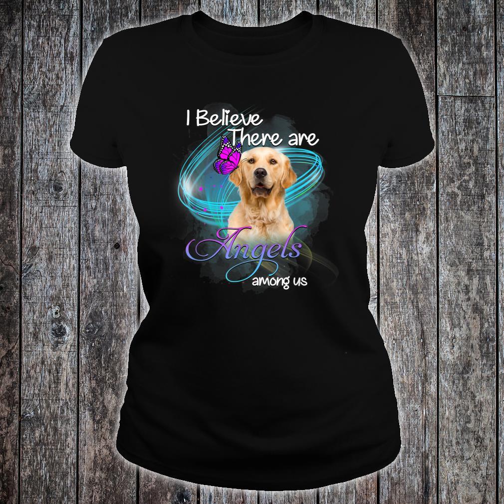 Golden Retriever Dog An Angel Among Us Shirt ladies tee