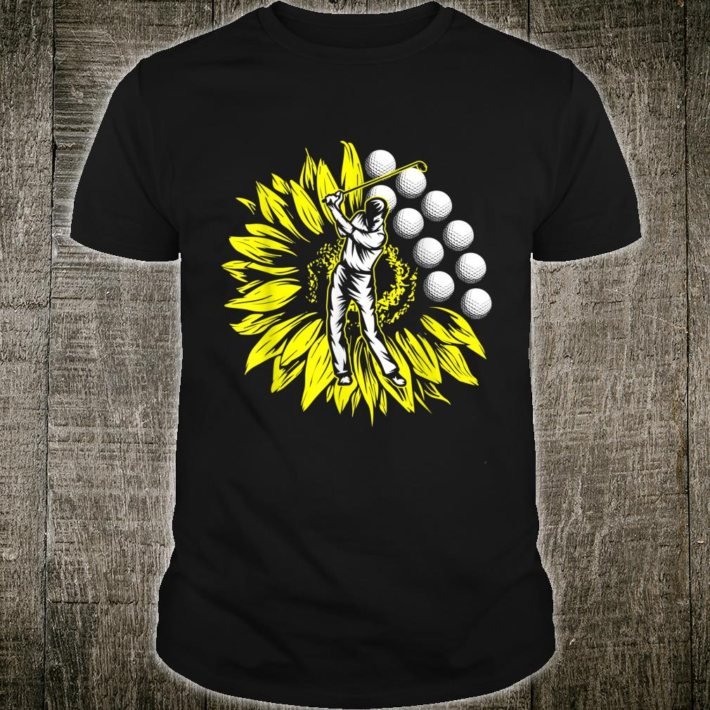 Golf Player Ball Sunflower Golfer Cool Sportss Shirt