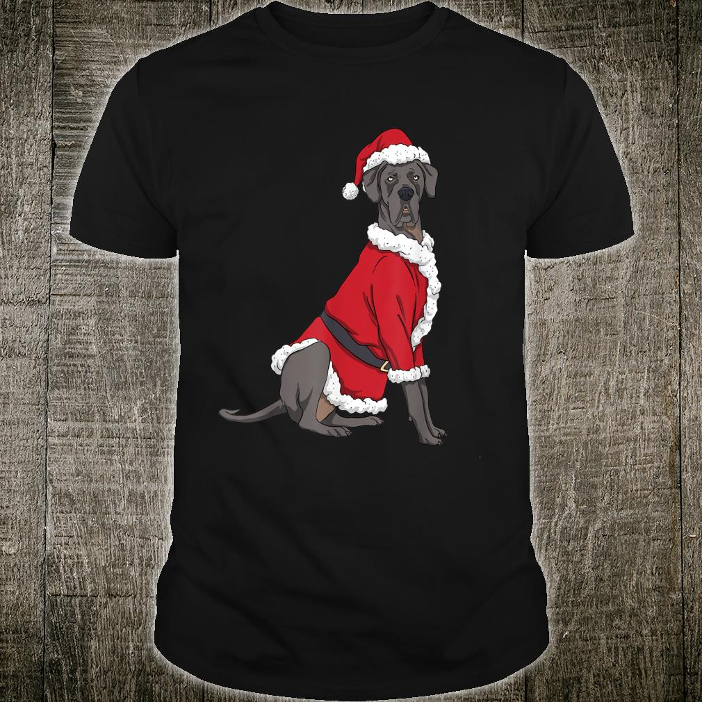 Great Dane Christmas Dog Santa Xmas Shirt