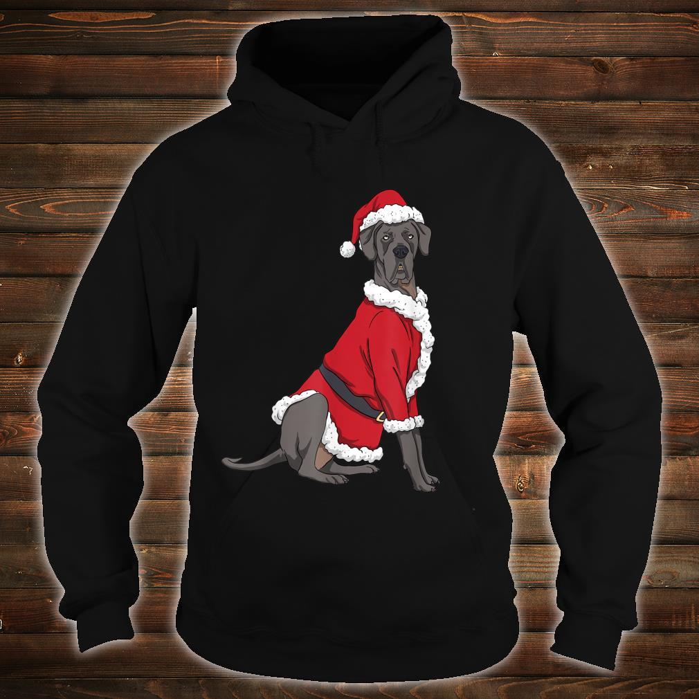 Great Dane Christmas Dog Santa Xmas Shirt hoodie
